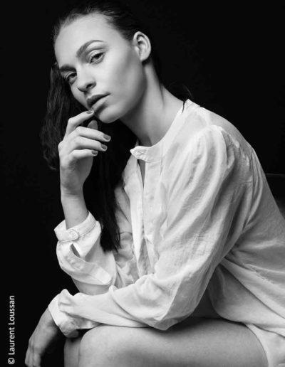 portrait Eden noir et blanc, black and white ©Laurent Loussan shooting photo portrait